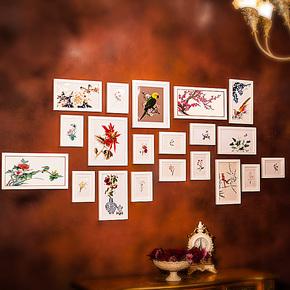 右手边 实木照片墙大框相片墙相框墙创意组合20B1送画心卡纸超值