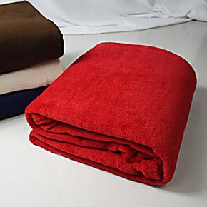 特价包邮加厚珊瑚绒毯子 纯色素色床单 双人学生毛毯 沙发车用毯