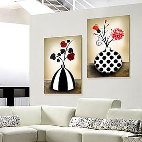 现代简约客厅无框画 装饰画挂画卧室床头墙上挂画壁画 餐厅水晶画