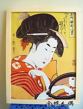 日本仕女日式风格图餐厅客厅走廊装饰画有框画挂画壁画挂画