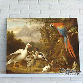 博格达尼 鹦鹉墙画装饰画客厅单幅餐厅装饰画卧室挂画配电箱装饰