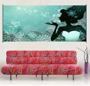 电视背景墙挂画 家庭装饰画客厅 卫生间装饰画防水 墙面装饰画