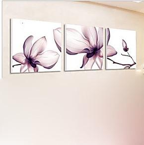 家庭装饰画客厅现代饭厅沙发背景墙无框画挂画壁画墙画三联画V09