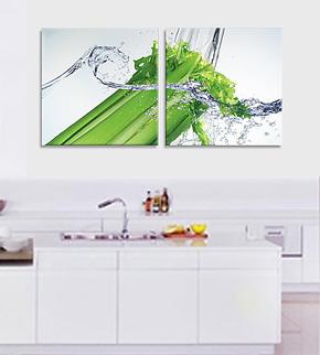 简约家庭装饰画客厅现代无框画厨房挂画餐厅壁画新鲜蔬果创意墙画