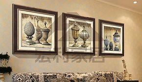 宏利家居 新古典装饰画家庭装饰客厅有框画欧式卧室餐厅挂画壁画