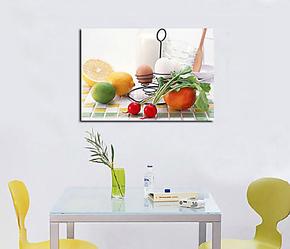 水果静物单联挂画 食物画装饰画 餐厅墙壁画挂画电表箱遮挡画无框