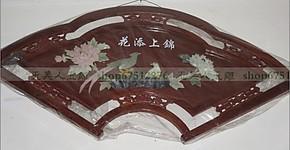 现代客厅装饰画玉雕画壁画扇形实木浮雕天然玉石120*60锦上添花