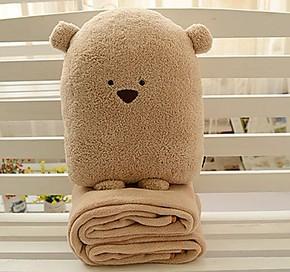空调被抱枕被子两用靠垫 汽车靠垫枕头被子 折叠被子创意抱枕包邮