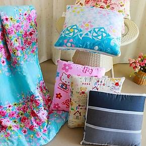 纯棉创意抱枕被子午休被汽车空调被全棉靠垫被两用折叠被清仓特价