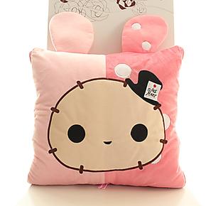 创意空调毯空调被夏凉被 忧忧兔抱枕被靠垫两用 抱枕被子生日礼物