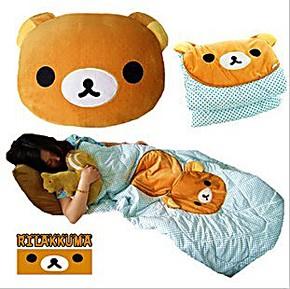 特价卡通轻松小熊公仔空调被两用被子抱枕 大号枕头被子 汽车靠垫