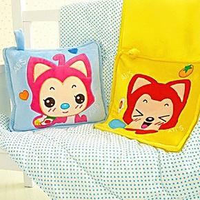 包邮ali可爱卡通阿狸桃子空调被两用被子抱枕大号枕头靠垫办公室
