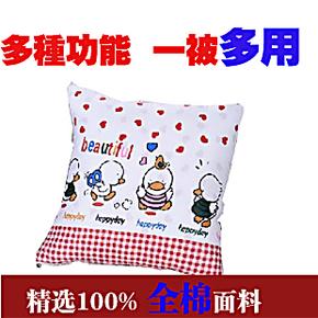 抱枕被子二合一包枕空调被 纯棉 全棉枕头被子两用抱枕大号靠垫