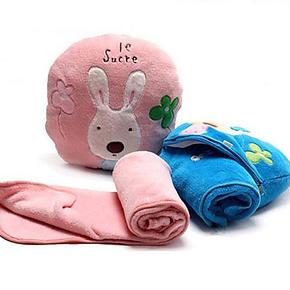 包邮砂糖兔空调被卡通珊瑚绒毯子抱枕空调毯 夏凉被毛毯 婴儿盖毯
