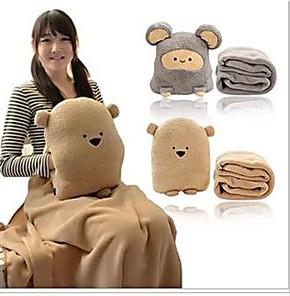 包邮卡通暖手捂抱枕可爱空调被毛毯三合一多功能两用抱枕1.8 米