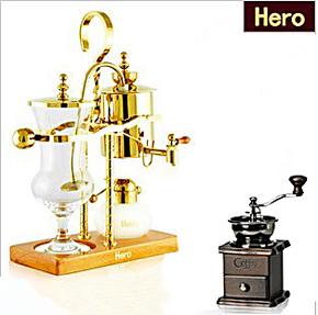 咖啡机 hero皇家比利时咖啡壶咖啡机家用全自动蒸汽虹吸壶美意式