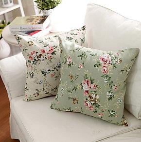 纯棉优质田园抱枕靠枕沙发靠垫靠背套靠垫套抱枕套抱枕芯 满包邮