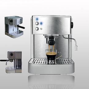 半自动咖啡机意式家用不锈钢泵压式咖啡机小型办公室蒸汽卡布基诺