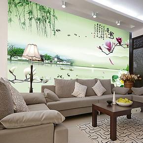 中式大型壁画壁纸墙纸客厅卧室沙发电视背景墙画个性山水风景唐韵
