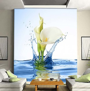 个性电视背景墙纸壁纸壁画大型客厅卧室沙发墙画玄关自粘现代花卉