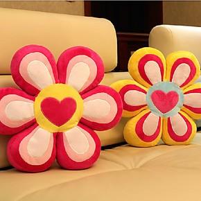汽车 办公室可爱大花朵形状坐垫椅垫靠垫腰枕头飘窗垫抱枕加厚