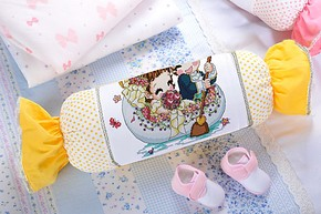 正品特价 新款新贝儿十字绣套件 可爱卡通抱枕糖果枕系列枕头靠垫