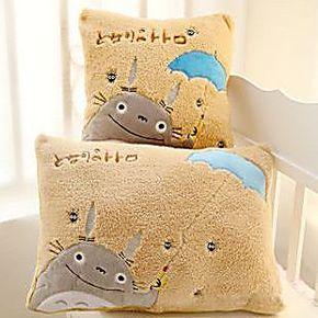 宫崎骏龙猫超大靠垫 毛绒长抱枕卡通枕头可爱创意办公室护腰枕