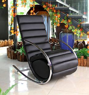 包邮创意皮摇椅躺椅逍遥椅休闲椅户外午睡椅午休白色椅子单人秋千