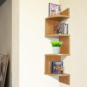 福润简易简约置物架自由组合CD架壁挂木架/书架储物架/收纳架子