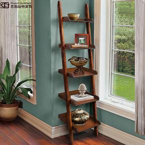 欧式美式书架 CD架花盆架 多功能层架靠墙置物架 收纳架超大储存