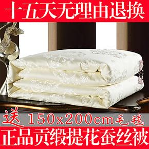 梦洁家纺 正品蚕丝被 100%桑蚕丝被子被芯 春秋被 冬被 加厚特价