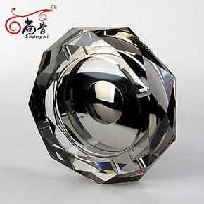 尚昔 水晶烟灰缸 创意个性时尚精品欧式特大号烟缸 公司定制礼品