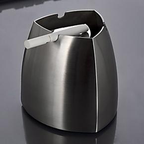 不锈钢烟灰缸 时尚烟灰缸 创意 防风欧式烟缸 新款三角锥形烟灰缸
