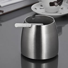 烟灰缸创意个性 时尚创意礼品 个性烟灰缸欧式 不锈钢锥形双层