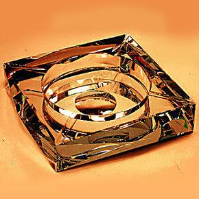 水晶烟灰缸创意个性高档特大号烟缸欧式摆件定制礼品教师节礼物