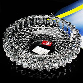特价 青苹果网纹烟缸 大号透明玻璃烟灰缸创意烟碟欧式圆形烟灰缸