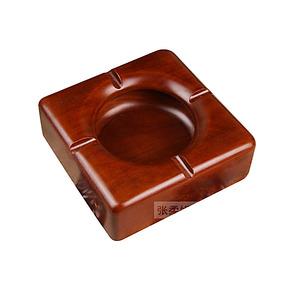 烟灰缸 创意 烟缸 实木烟灰缸大号 欧式 红木烟缸家居用品 个性