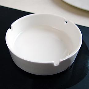 纯白出口级 唐山骨瓷 烟灰缸 烟缸 欧式陶瓷烟灰缸 时尚 酒店用品