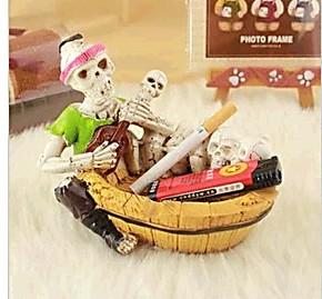 恐怖骨头工艺骷髅头烟灰缸/海盗骷髅烟灰缸/男友个性生日礼物特价