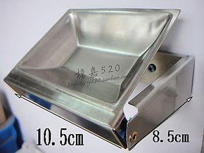 不锈钢翻盖式烟灰缸 挂墙式可活动烟灰缸 公共场所烟灰缸