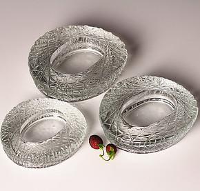 欧式玻璃烟缸 水晶烟灰缸 时尚创意个性大烟缸 鸟巢 透明蛋形烟缸