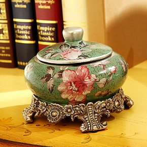 创意个性欧式陶瓷烟灰缸大号复古烟灰缸时尚礼品烟缸工艺婚庆礼物