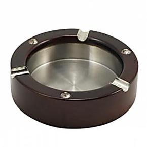 楠竹烟灰缸时尚雕刻龙木质合金烟灰缸不锈钢烟灰缸家庭办公烟灰缸