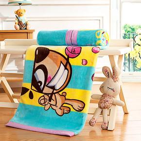 盛宇家纺 云貂绒四季毛毯 可爱卡通学生儿童毯 盖毯 懒人毯90X136