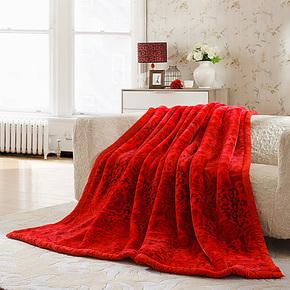 盛宇家纺 床上用品 柔顺爽肤透气 加厚毛毯 婚庆送礼毯 涵芳碧玉