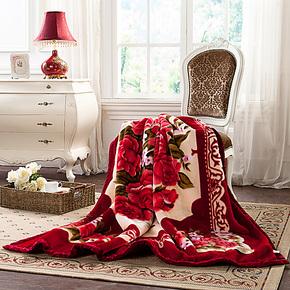 盛宇家纺 春秋保暖盖毯加厚珊瑚绒毛毯 婚庆 馨雅毛毯特价包邮