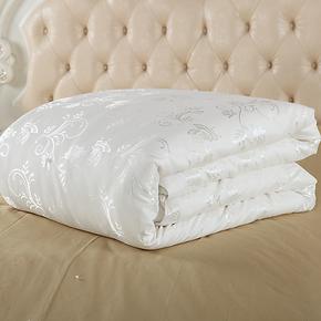 越龙家纺 100%桑蚕丝被 被子被芯 冬被 手工蚕丝被 优雅型蚕丝被