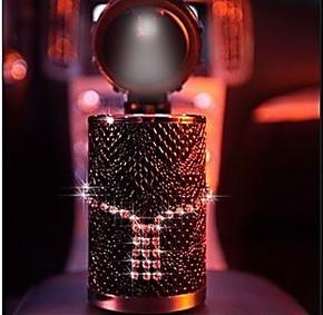 汽车正品 pesox施华洛世奇水晶奢华LED烟灰缸 时尚高档车载礼品