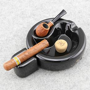 英国ROYAL CROWN皇冠 一位烟斗座/烟斗架 烟斗烟灰缸 黑色T-800