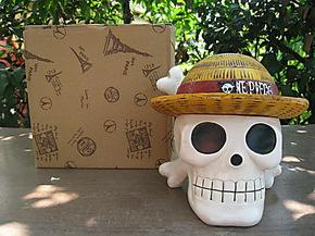 热卖动漫周边 海贼王路飞骷髅烟灰缸 创意家居 个性礼物